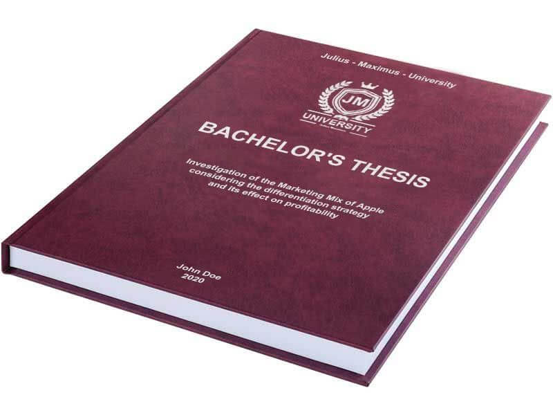 Embossed leather book binding for thesis and dissertation