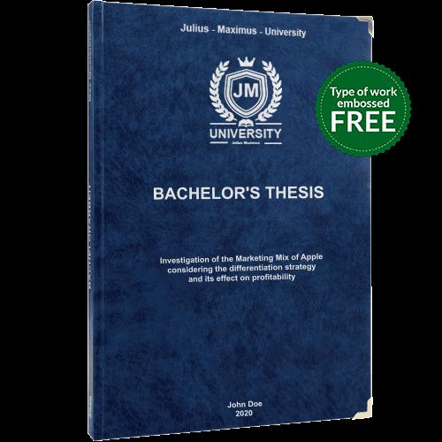 Leather book binding blue