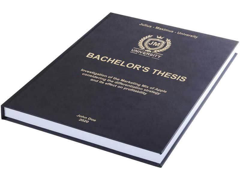 Premium leather book binding black horizontal