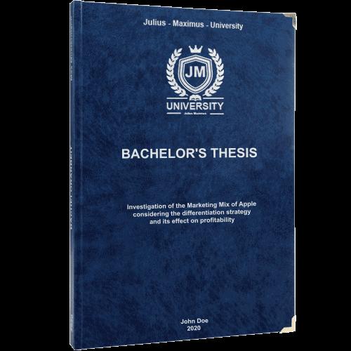 Premium leather book binding blue
