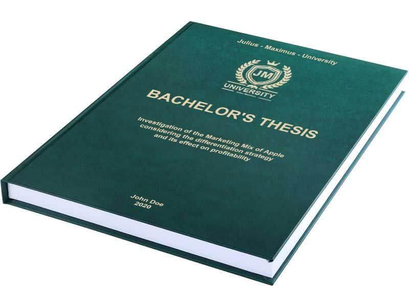 Premium leather book binding dark green hori-zontal