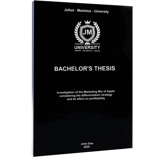 Thesis binding with black softcover