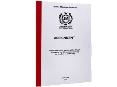 Assignment printing thermal binding red