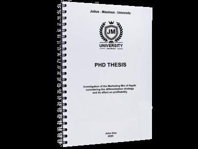 PHD Thesis printing binding spiral binding metal