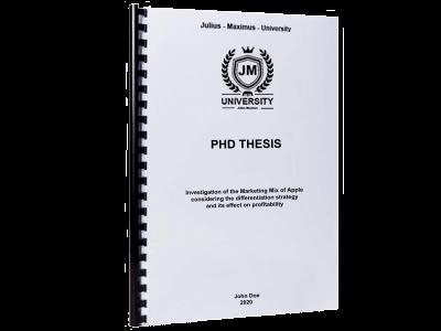 PHD Thesis printing binding spiral binding plastic