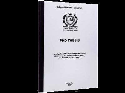PHD Thesis printing thermal binding black