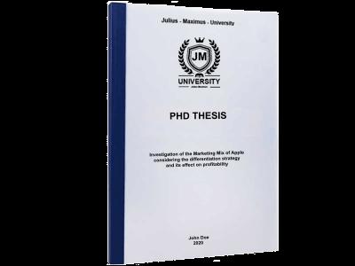 PHD Thesis printing thermal binding blue