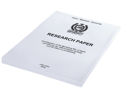 Research Paper softcover white individual