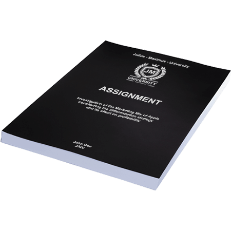 assignment printing binding softcover black