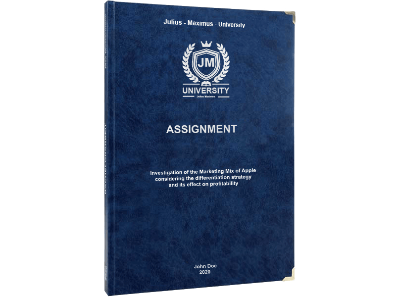 assignment printing black leather binding premium blue