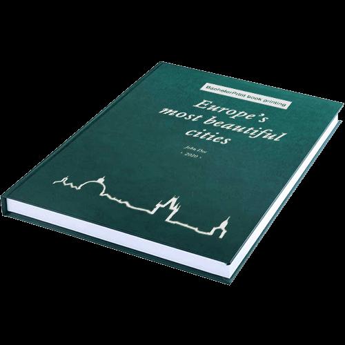 book printing binding premium leather binding green silver