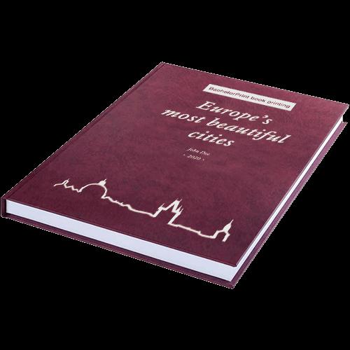 book printing binding premium leather binding red silver
