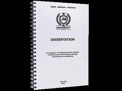 dissertation printing binding spiral metal black