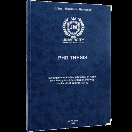 phd printing binding leather binding blue
