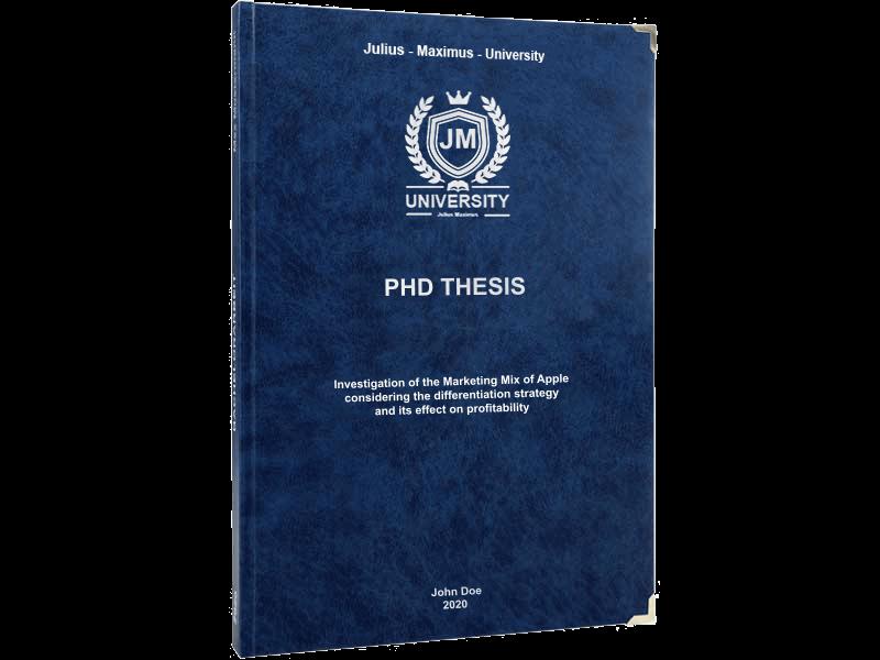 phd printing black leather binding premium blue