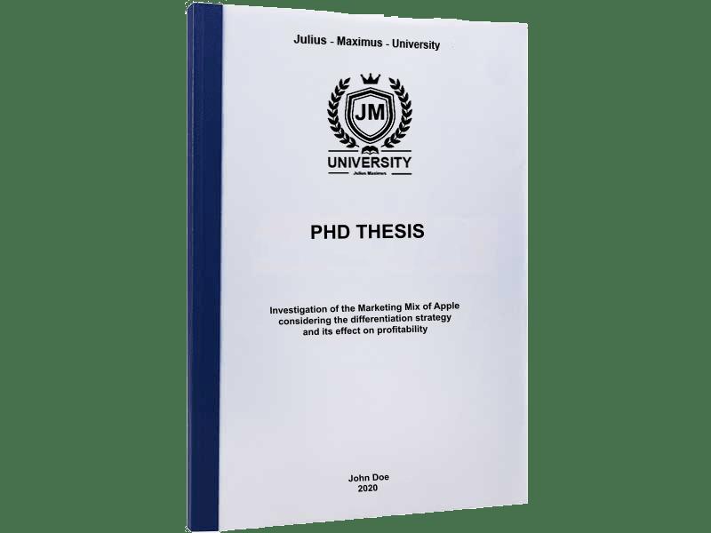 phd printing thermal binding blue