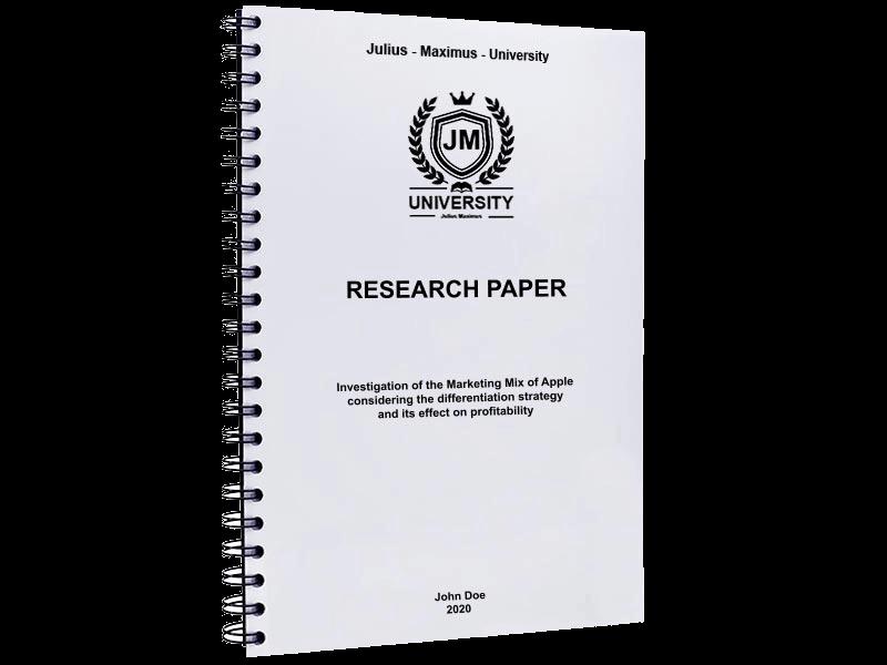 research paper printing spiral binding metal