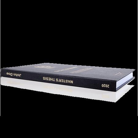 thesis standard binding black spine