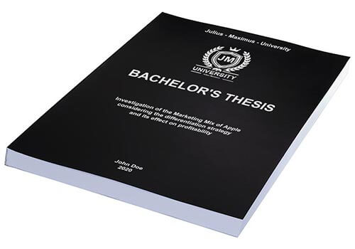 Printing costs for Bachelor's thesis Thermal binding