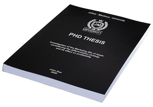 Printing costs for PhD theses Thermalbinding