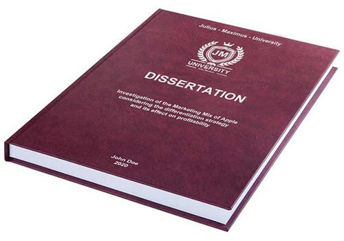 Printing costs for dissertations Leather binding with embossing