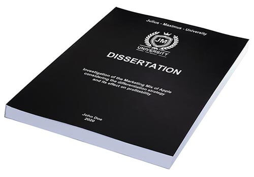 Printing costs for dissertations Thermalbinding