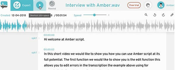 how to transcripe an interview use of transcript