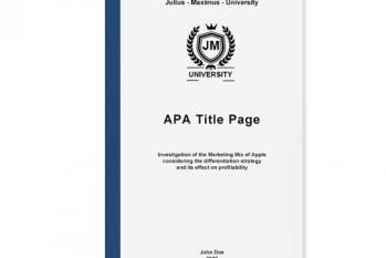 apa title page academic writing