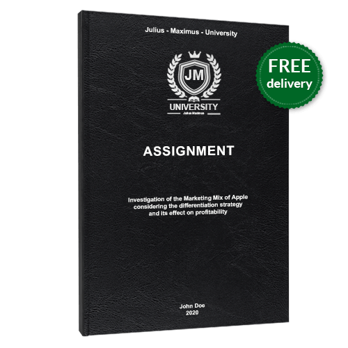 Assignment standard leather book binding