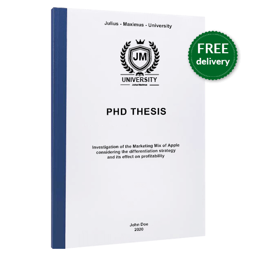 PhD printing thermal binding free delivery