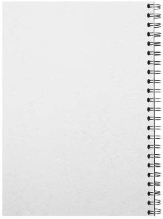 Spiral binding back white
