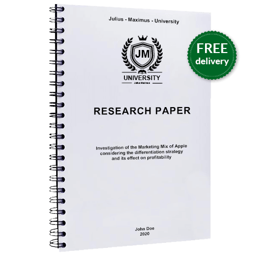 Spiral binding for research paper