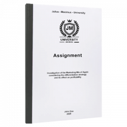 apa format title page assignment printing & binding