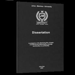 dissertation structure dissertation printing & binding