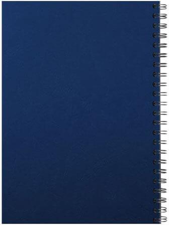 Comb binding back blue