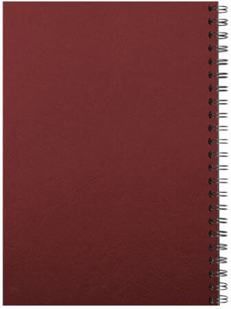 Comb binding back red