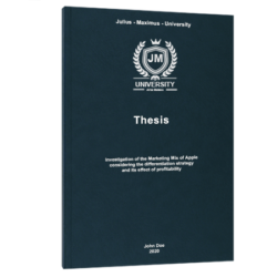 In-depth interview thesis printing & binding