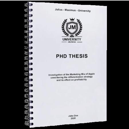 Spiral binding thesis