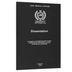 use of et al. dissertation printing & binding